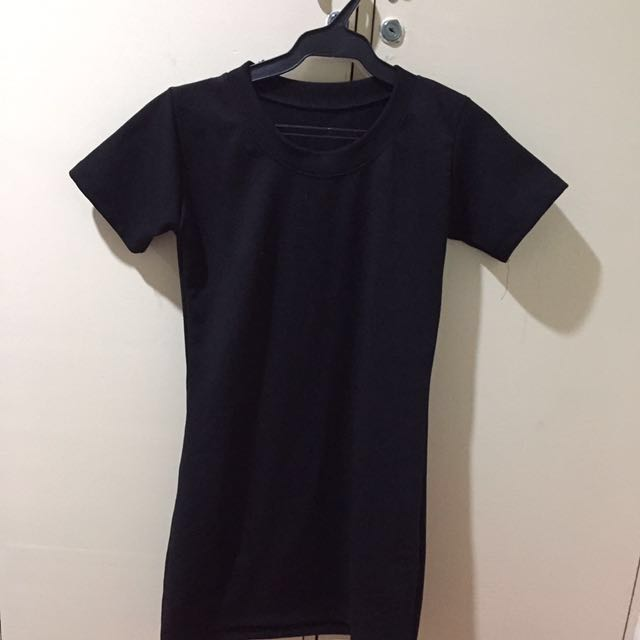 Black Short-sleeved Dress