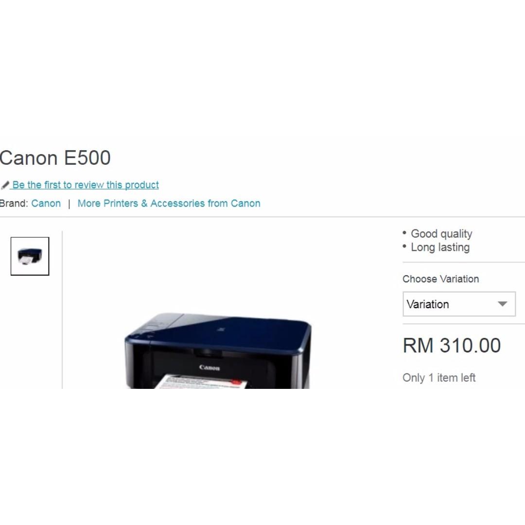 Canon Color Printer PIXMA E500
