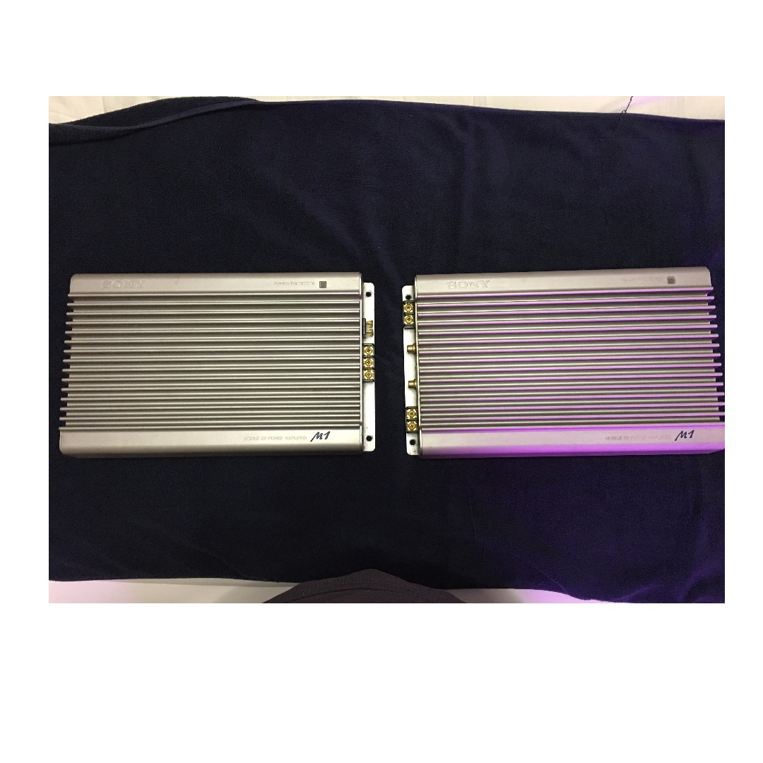 Car audio amplifier - SONY XES-M1 Power Amplifier (one pair