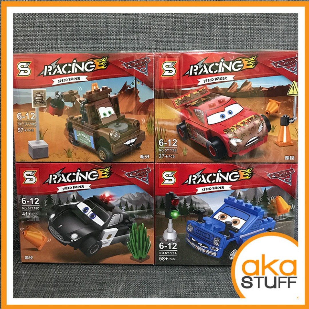 Cars Lego Compatible Blocks 4 designs