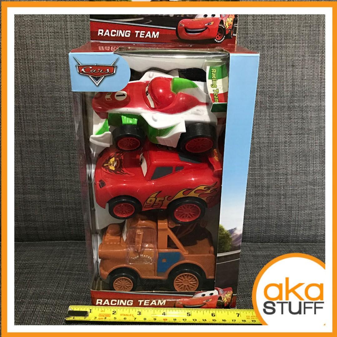 Cars Set of 3 Lightning McQueen Mater