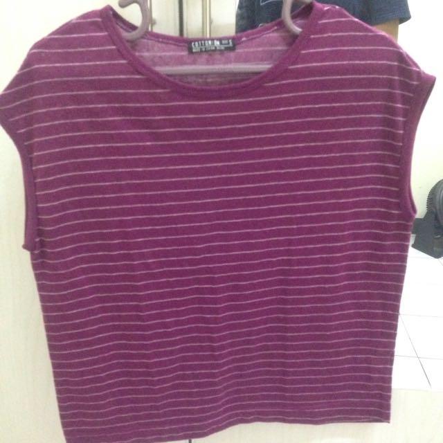 Cotton: On Striped Tshirt
