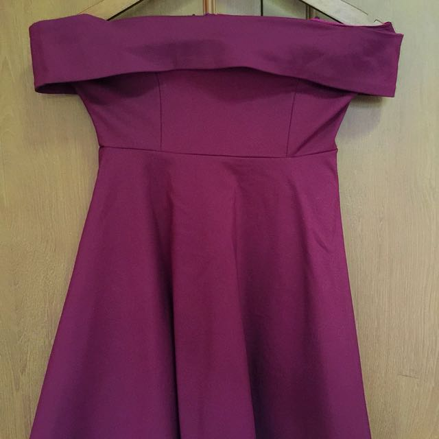Dress Maroon Sabrina Chocochips