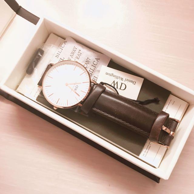 Daniel Wellington Dw 手錶 棕 36mm✨✨
