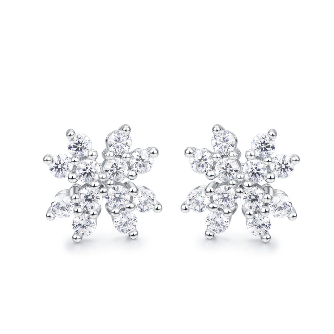 jewellery platinum aura stud de beers earrings earring diamond