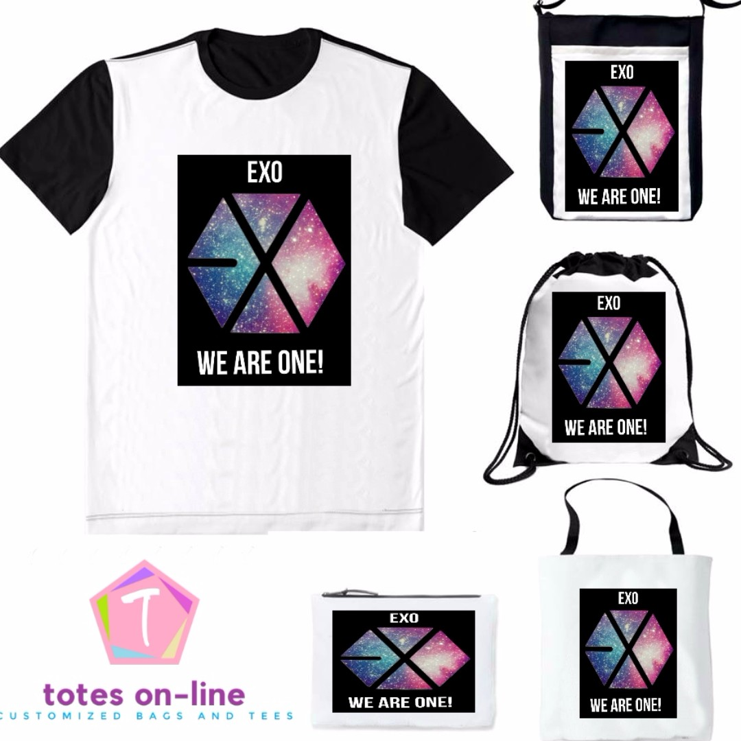 Exo We Are One Design Customized Bags And Tees Online Shop