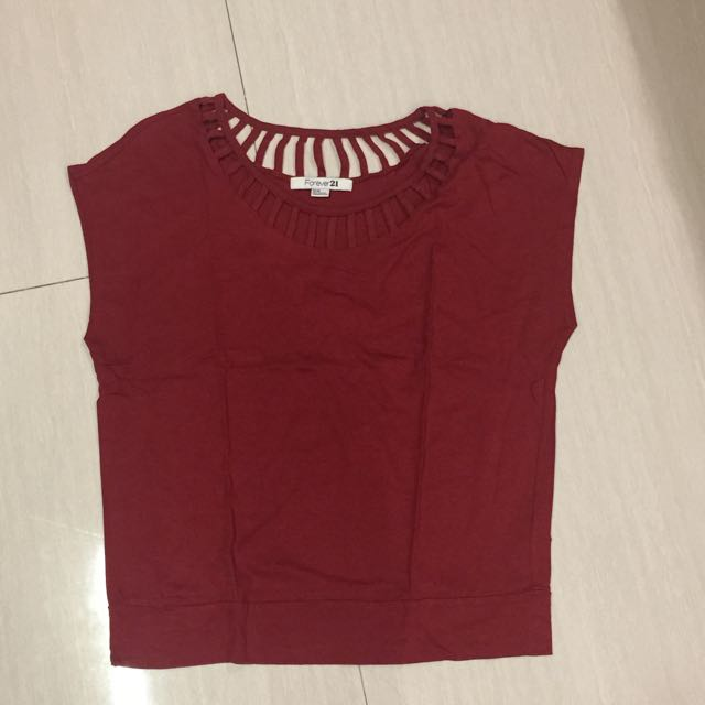 Forever 21 Maroon Shirt
