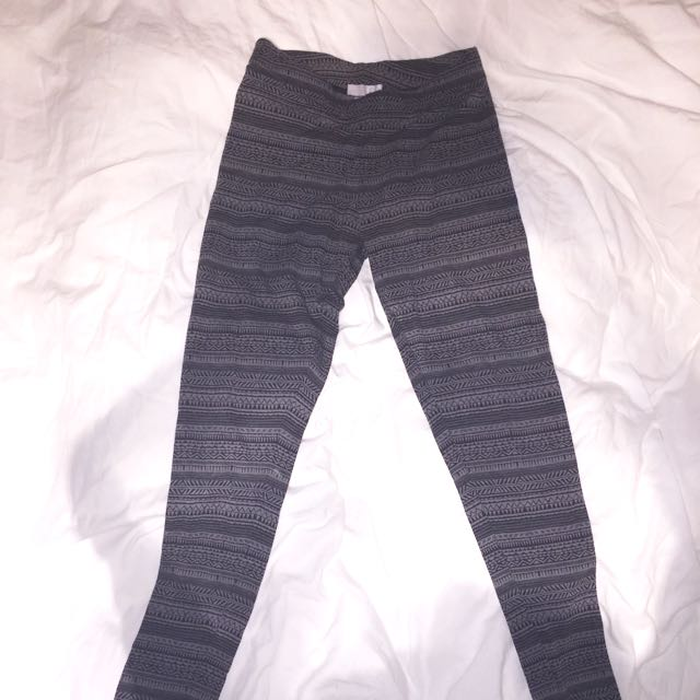 GARAGE - Tribal Print Leggings (Grey)