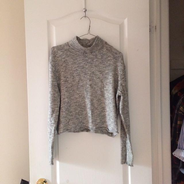 Grey Abercrombie turtleneck