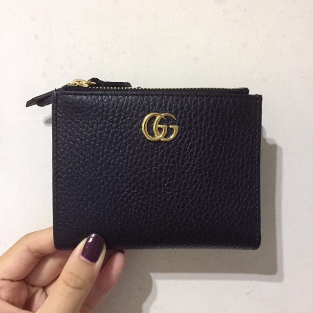 5d65f33c6 Gucci GG Marmont leather wallet 短銀包, Luxury, Bags & Wallets on Carousell