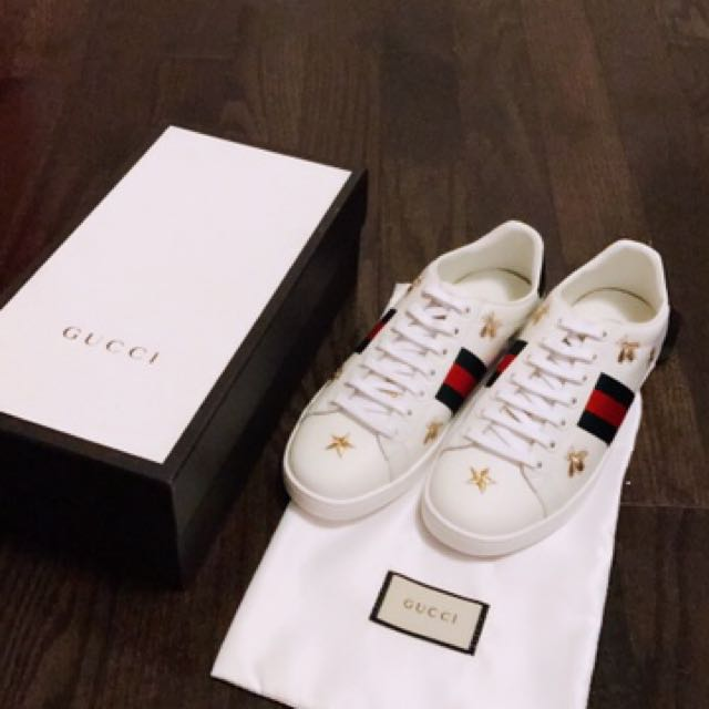Gucci golden bee & star ace sneakers