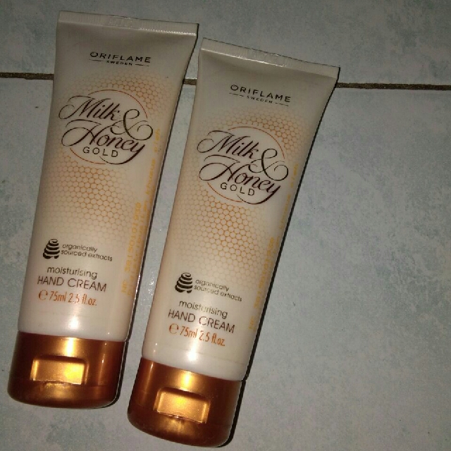 Hand Cream Milk Honey Gold