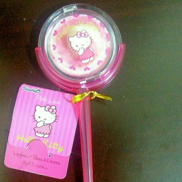 Hello Kitty 唇蜜 唇彩 唇蜜盒 棒棒糖造型 #一百元美妝