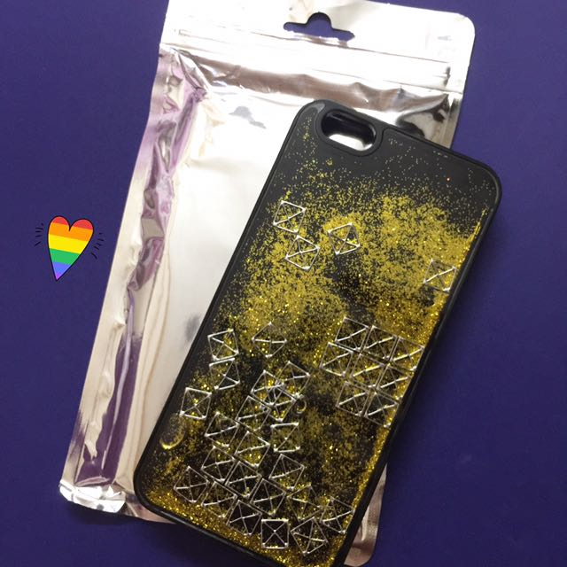 IPHONE 6+/6S+ GLITTER FLOWING CASE