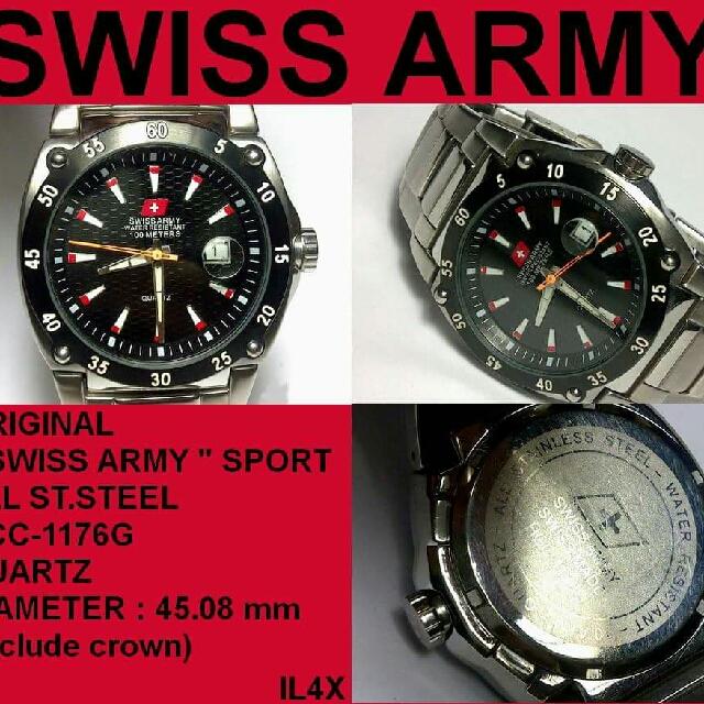 Jam Tangan Swiss Army Asli Bekas