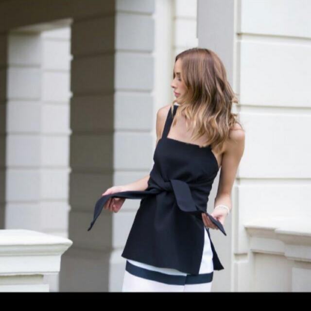 全新澳洲設計師品牌keepsake設計感綁帶上衣 Asos/zara/topshop/monki正韓可參考