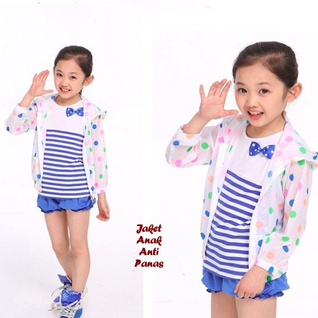 Korean Jaket Anak Anti Panas Motif Polkadot Bayi Anak Baju Anak Perempuan Di Carousell