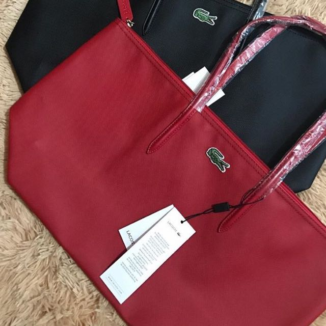 Lacoste Tote Red bag