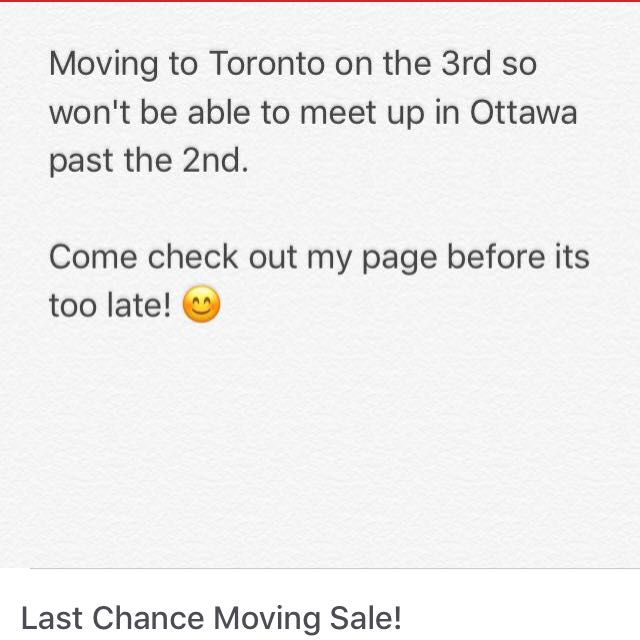 Last Chance Moving Sale!