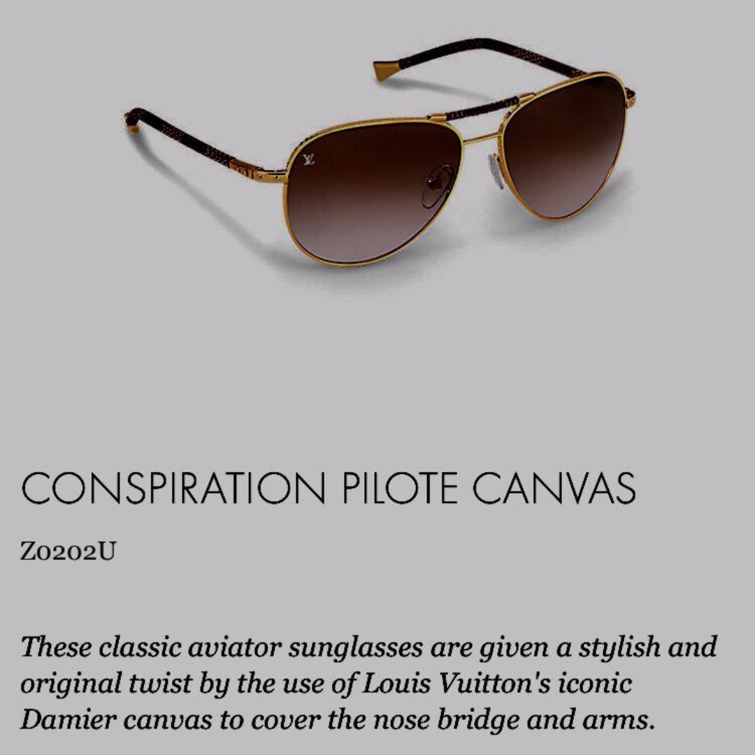 95ec409c82ff Louis Vuitton Conspiration Pilote Aviator Sunglasses Gold – Southern ...