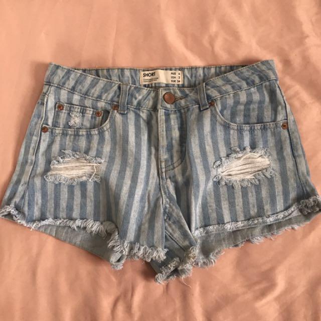 Low Waist Striped Shorts