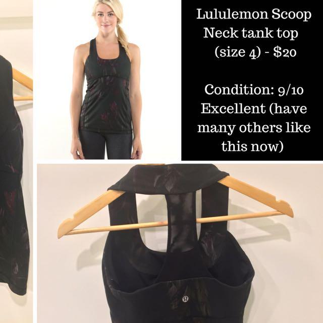 Lululemon Scoop Neck Tank Top - Size 4