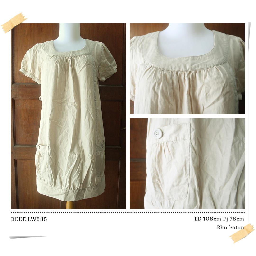 LW385 DRESS COKLAT