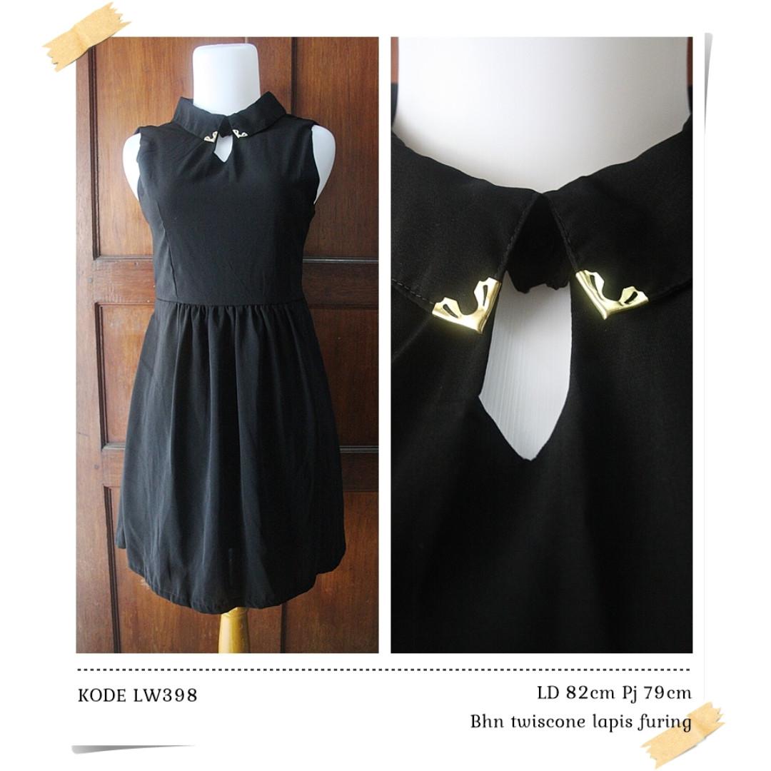 LW398 black dress