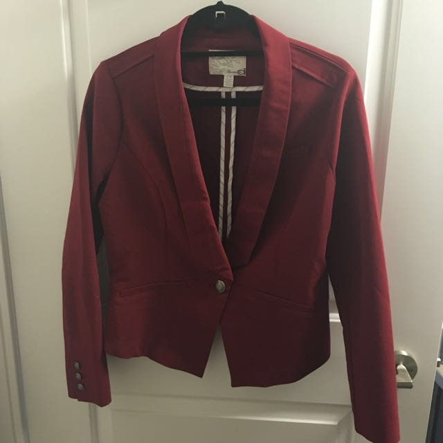 Maroon Fitted Blazer