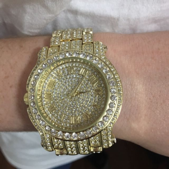 Men's iced out watch