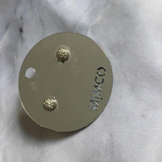 Mimco Mini Crystal Dome Studs
