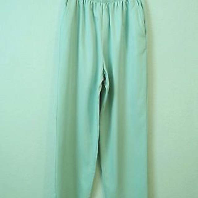 Mint colour slacks