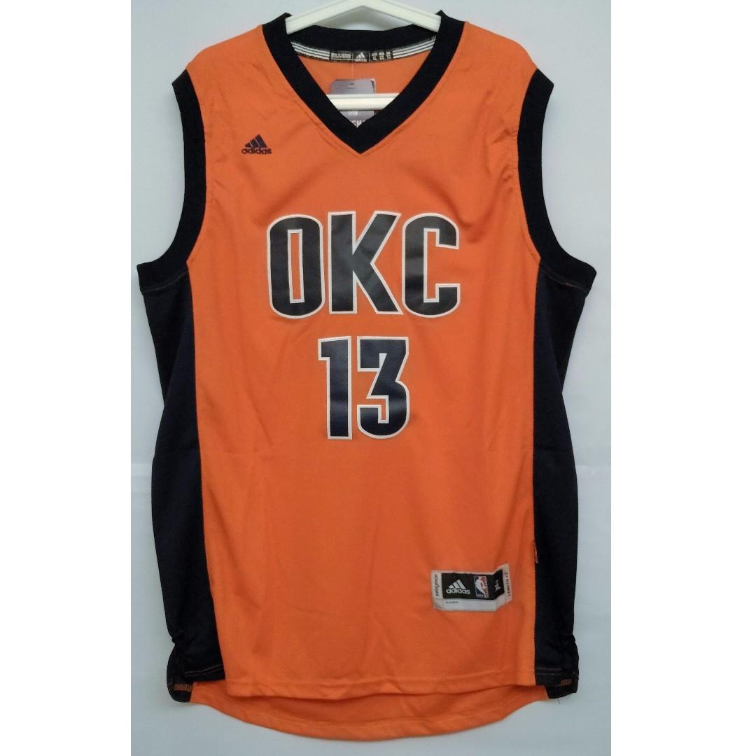 e7461ef55a59 NBA Swingman Jersey Paul George Oklahoma City Thunder  13 Orange ...