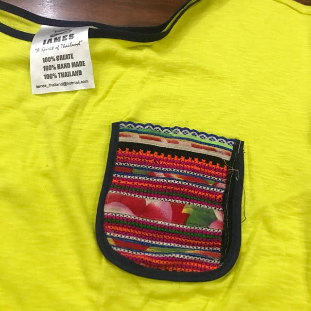 Neon Pocket Oversized Crop Top