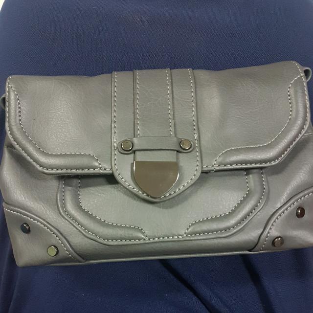 Nine West  Gray Sling Bag