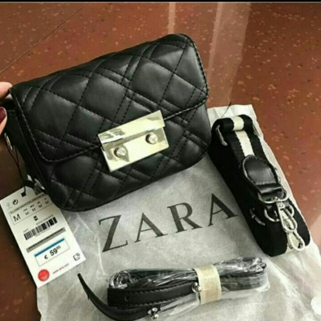 Original Zara crossbody doblestrap