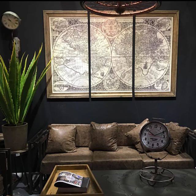 Oversize canvas world map poster frame home furniture home photo photo gumiabroncs Image collections