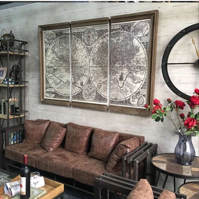 Oversize canvas world map poster frame home furniture home oversize canvas world map poster frame home furniture home decor on carousell gumiabroncs Image collections