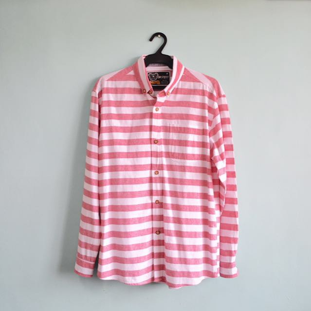 Pink & White Stripes Button Down
