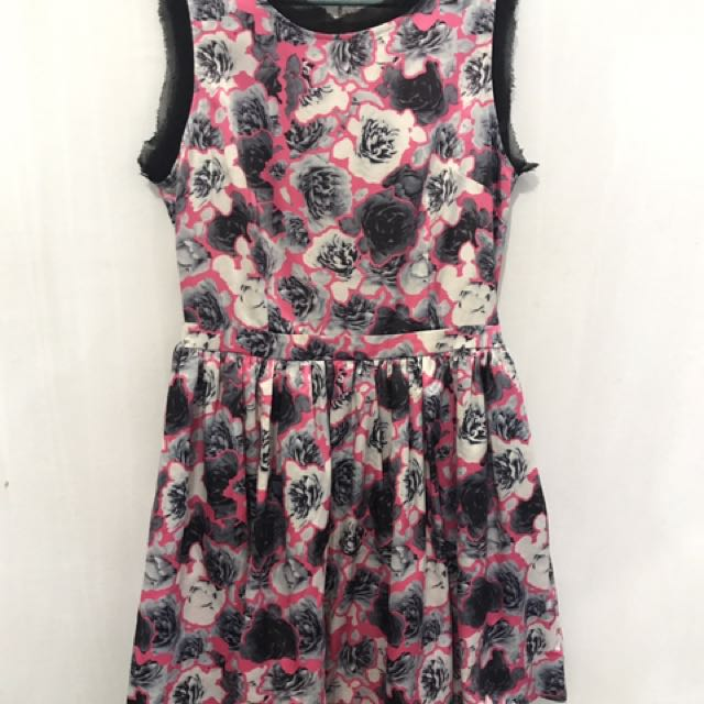 Pink Flowers Dress