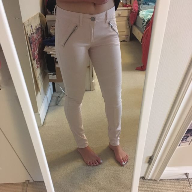 Pink Moto Jeans