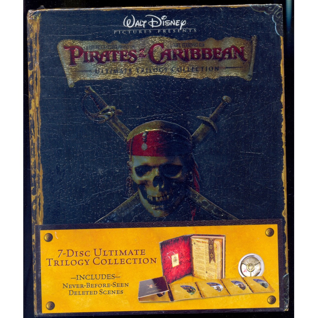 Pirates Of The Caribbean Ultimate Trilogy Collection New Blu Ray