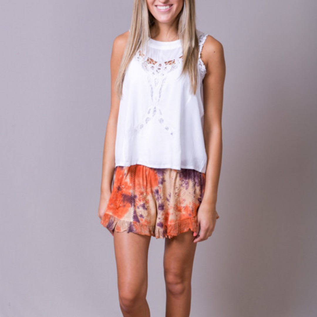 RAGA Siberian Sunrise Shorts in Tie-dye Rust