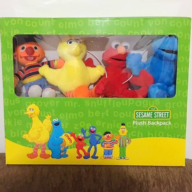 cd3d87045ca4 Retail  49.90! Sesame Street Plush Backpack   Musical Cot Mobile ...