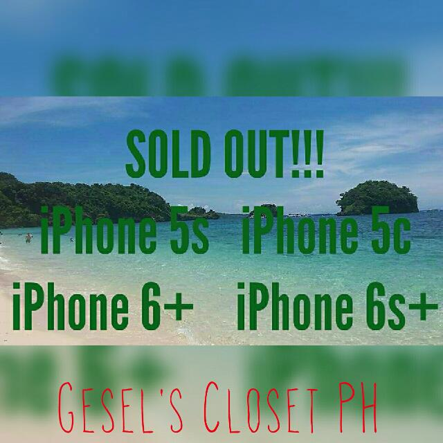 SOLD OUT!!!! iPhone 5s 5c 6+ 6s+