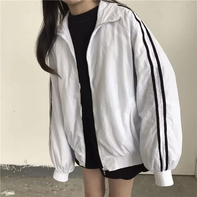 Stripe Bomber jacket