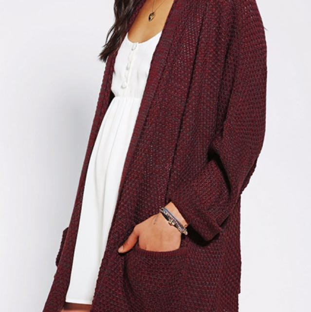Urban Outfitters BDG Burgundy Knit Cardigan