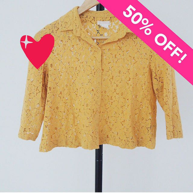 Urban Outfitters Cooperative Lace Shirt