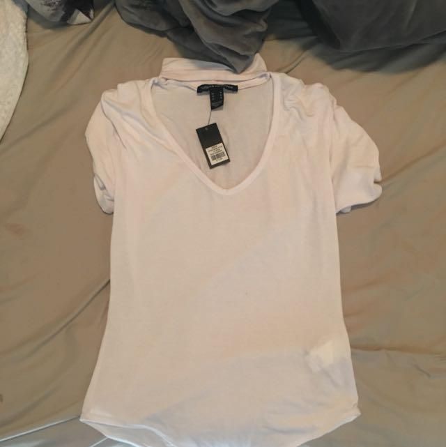 White Chocker Body Suit (short Sleeves)