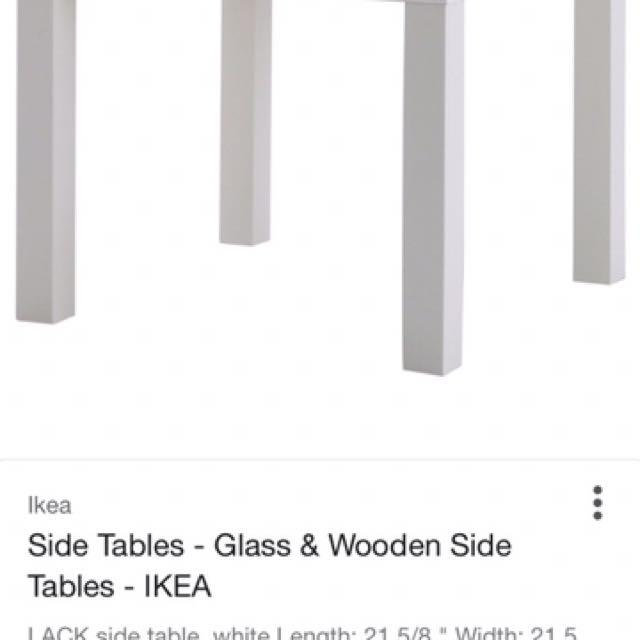 Whitebikea side table